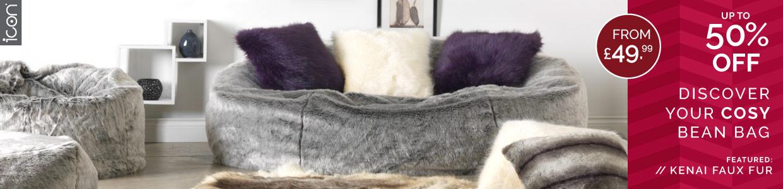 Faux Fur Bean Bags