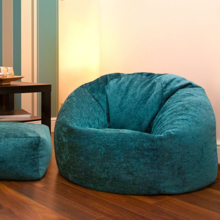 Incredible Panelled Xl Bean Bag Luxury Chenille Home Interior And Landscaping Mentranervesignezvosmurscom