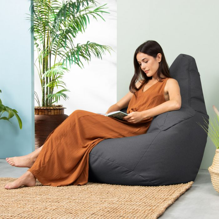 Oria Recliner Bean Bag Charcoal