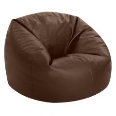 brown faux leather bean bag