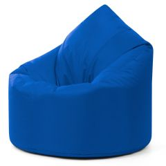 Blue teardrop bean bag