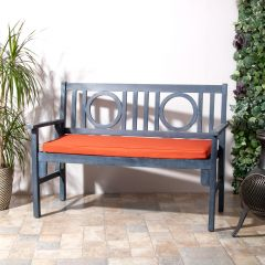 Terracotta Medium 2 Seater Indoor Outdoor Bench Pad on Bench in Yard