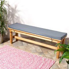 Charcoal Grey Bench Pad on Bench in Yard