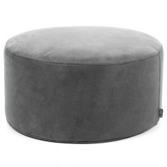 Teal Faux Leather Drum Footstool