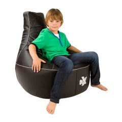 Black and Silver i-eX Rookie Kids Gaming Chair