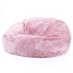 pink fur bean bag
