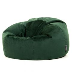 green velvet bean bag