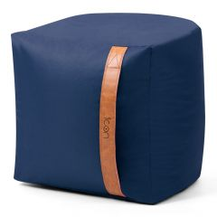 Navy Blue Bean Bag Stool with Handle