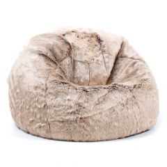 Mink faux fur kids bean bag