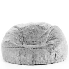 ICON™ Kenai Faux Fur Bean Bag, Arctic Wolf