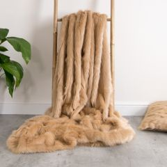 ICON™ Champagne Luxury Faux Fur Throw