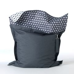 grey transform bean bag floor cushion