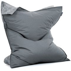 Charcoal Wing Bean Bag White Background
