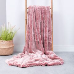 ICON™ Luxury Faux Fur Throw, Rose Dust Pink