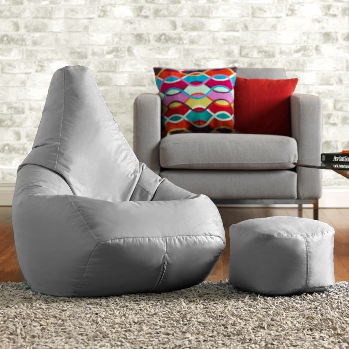 High Back Bean Bag With Free Footstool