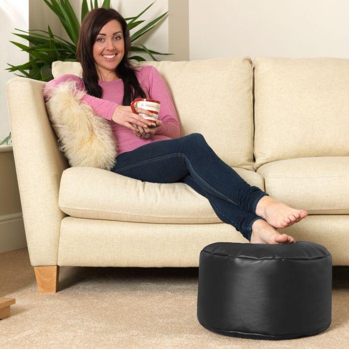 Surprising Bean Bag Footstool Faux Leather Machost Co Dining Chair Design Ideas Machostcouk