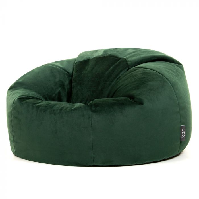 Peachy Icon Milano Classic Velvet Bean Bag Ocoug Best Dining Table And Chair Ideas Images Ocougorg