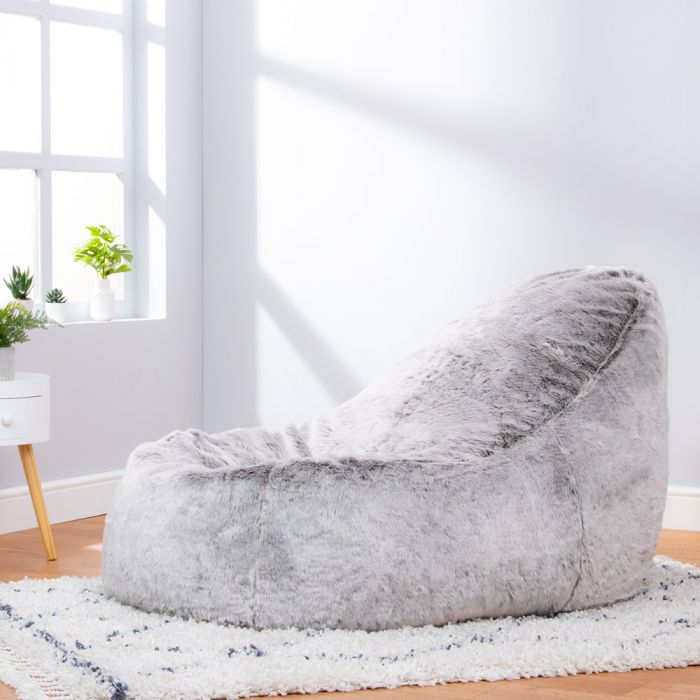 Marvelous Icon Faux Fur Dream Lounger Squirreltailoven Fun Painted Chair Ideas Images Squirreltailovenorg