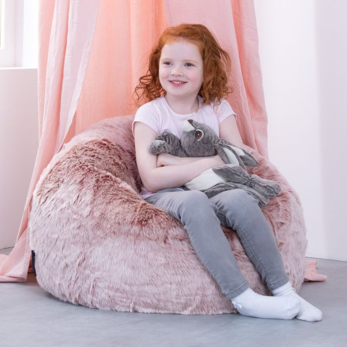 Magnificent Icon Luxury Faux Fur Kids Classic Bean Bag Forskolin Free Trial Chair Design Images Forskolin Free Trialorg