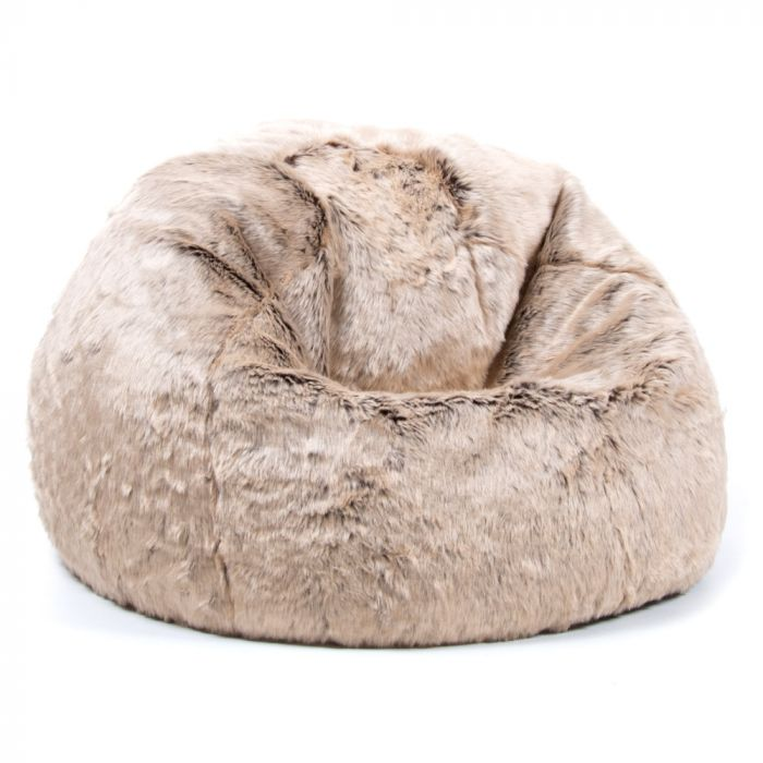 Pleasing Icon Luxury Faux Fur Kids Classic Bean Bag Mink Machost Co Dining Chair Design Ideas Machostcouk