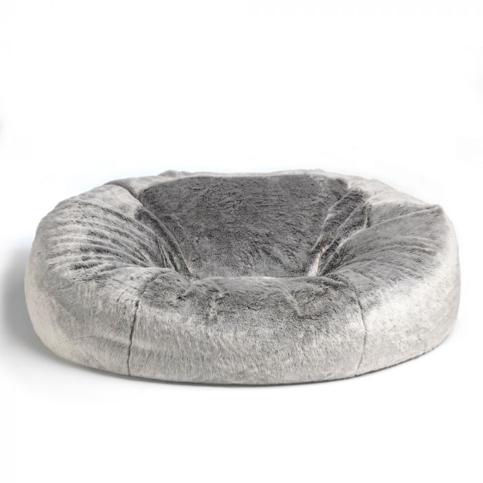 Marvelous Icon Kenai Cloud Two Seater Faux Fur Bean Bag Arctic Wolf Squirreltailoven Fun Painted Chair Ideas Images Squirreltailovenorg