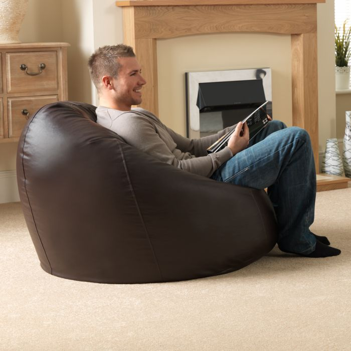 Awe Inspiring Xxl Bean Bags Man Size Faux Leather Squirreltailoven Fun Painted Chair Ideas Images Squirreltailovenorg