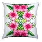 Pink Hibiscus Outdoor Cushion