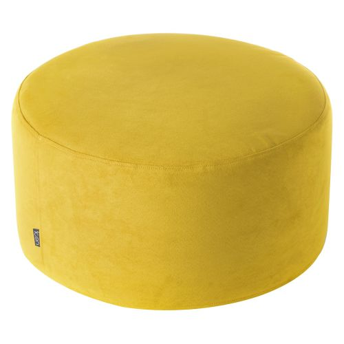 Fabulous Icon Shoreditch Pouffe Footstool Mustard Machost Co Dining Chair Design Ideas Machostcouk
