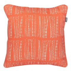 Reversible Luxury Outdoor Cushion, Coral Abstract Circles and Stripes