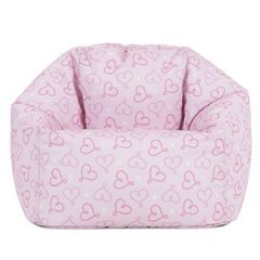 Icon® Ditsy Hearts Kids Bean Bag, Pink
