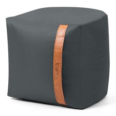 Grey Bean Bag Stool with Handle