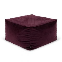 Icon® Cortado Quilted Velvet Footstool
