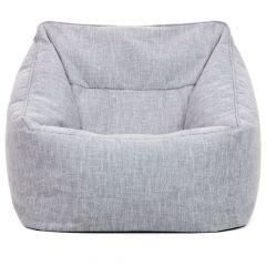 light grey bean bag armchair