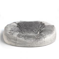 Arctic Wolf Two Seater Faux Fur Bean Bag