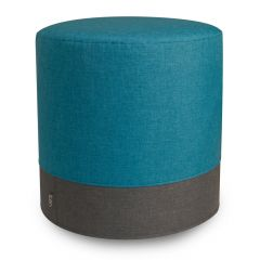 Icon teal eclipse pouffe footstool