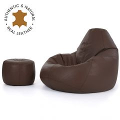 ICON® Valencia Real Leather Recliner + Footstool