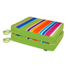 Rainbow stripe outdoor seat pad pack of 2