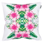 Tropical Outdoor Cushion Hibiscus Pinks