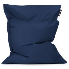 Navy Blue bazaar bag bean bag white background