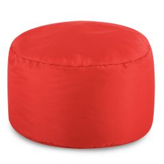 red bean bag footstool large