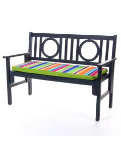 Technicolour Stripe Bench Pad in Garden