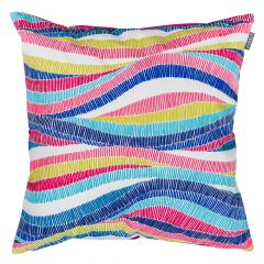 Colourful Wave Stripe print indoor outdoor garden cushion