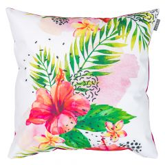 Exotic Floral Print Outdoor Cushion