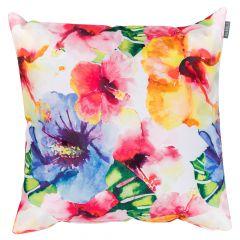 Hawaiian Bloom print outdoor garden cushion