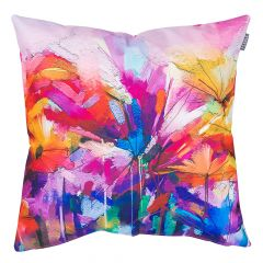 Pink Oil Painting Printed Outdoor Cushion
