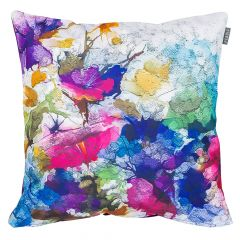 Purple Oil Painting Outdoor Cushion