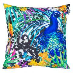 Tropical Peacock Outdoor Cushion