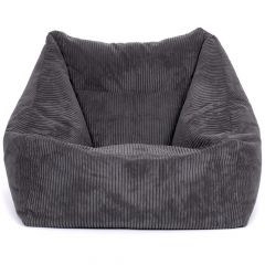grey cord bean bag armchair