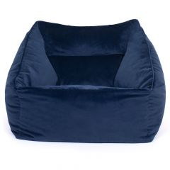 Navy velvet armchair bean bag