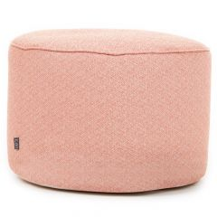 Coral bean filled indoor outdoor pouffe